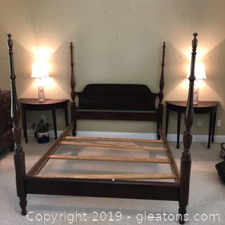 Queen Size 4 poster Mahogany Bed frame