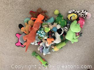 Lot of Dog Toys