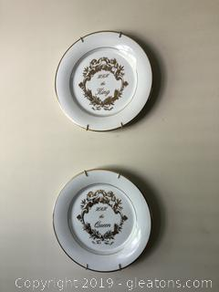 Pair of King and Queen Plates