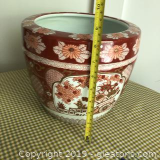 Large Oriental Flower Pot