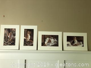 Set of 4 Bedroom Prints