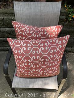 Pair Of Sunbrella Outdoor Pillows 16x16