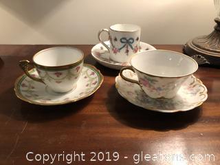 Fine Limoges Bone China Demitasse cups