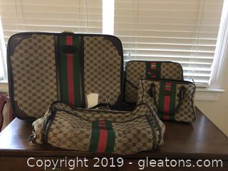 Vintage Monogram Lark 4 pc Luggage Set