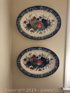 Pair of Large Platters