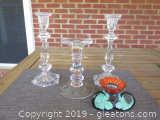 Lot of 4 CandleStick Holders