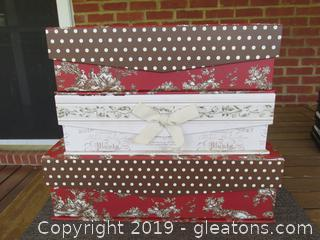 3 Sturdy Boxes / Use to Store, Display, Or Gifting / All have a Magnetic Closure Flap