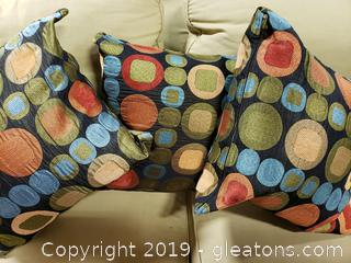 Set Of (3) Designer Throw Pillows