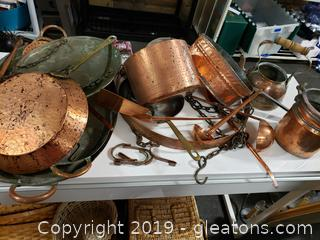Large Vtg. Copper Lot