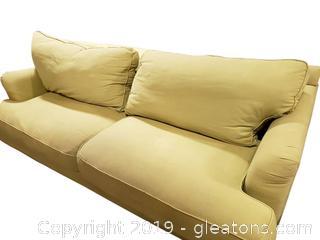 """Bauhaus"" Olive Green Sofa"
