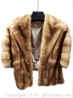"""Henri Kessler"" Fur Shoulder Shawl Stole Wrap"