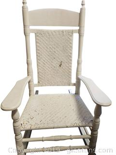 White Caned Rocker
