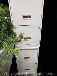 Pair Of (2) Drawer Filing Cabinets
