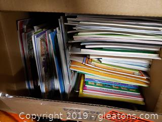 Large Box Lot Of Children's Books
