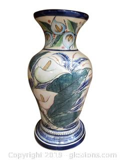 Large Oriental Hand Painted Vase