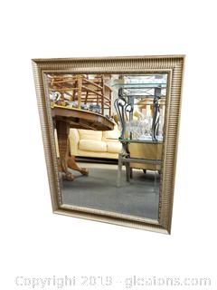 Gold Beveled Wall Mirror