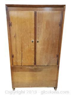 Vtg. Wooden Storage Cabinet