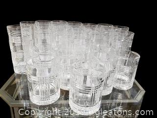 Large Lot Of Ralph Lauren Drinking Glasses