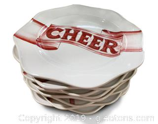 "Set Of ""8"" Cheer Plates"