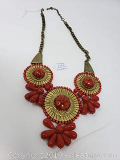 Large High End Vtg Costume Necklace