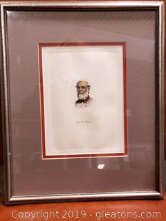 Robert E Lee Tinted Photo