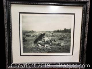 Rare Antique Original 1800's Ridgway Knight Photograph
