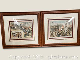 PR Of Vtg. Original Lithographs From 1890
