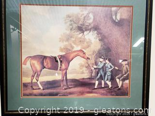 Vtg. Horse And (3) Boys Wall Art