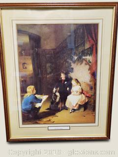 """The First Sitting"" Thomas Webster Print"