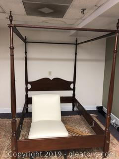 Antique 4 poster Canopy Mahogany Bed
