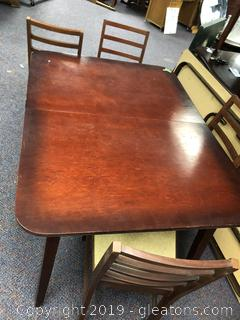 Mid Century kitchen Table and Chairs with hidden leaf