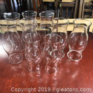 Lot of Large Glass Hurricanes