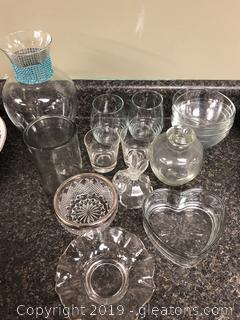 Lot of Misc Glassware
