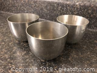 Vintage Stieff Pewter Jefferson Cups