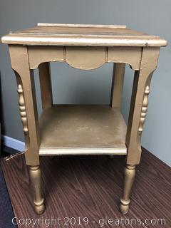 Vintage Wood Painted Side Table