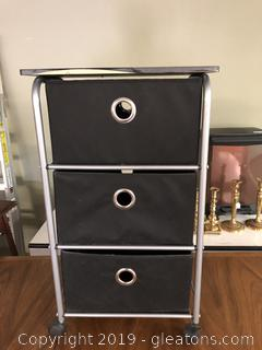 Rolling 3 drawer cart