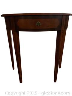 "Small Halfmoon ""Bombay Company"" Console Table"