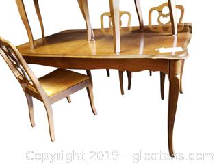 Vtg. Dining Table With Extra Leaf