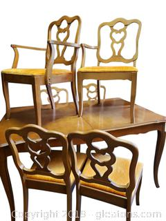 Set Of (6) Vtg. Dining Chairs