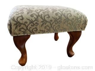 "Nice Covered Foot Stool By ""Accents"""