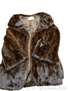 Large Mink Jacket Coat