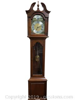 Small Tempus Fugit Colonial Grandfather Clock