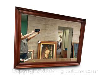 Large Henkel-Harris Wall Wooden Mirror