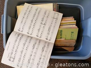 Box Of Sheet Music Song Books