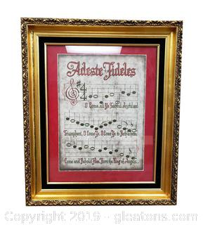 Framed Musical Nicely Wall Art