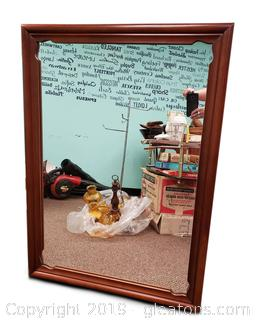 Lovely Vtg. Wooden Mirror