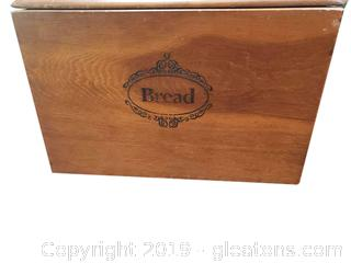 Vtg. Wooden Bread Box