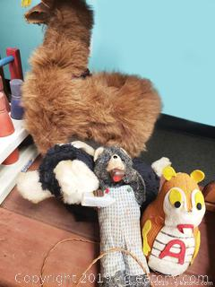 Lot Vtg Of Plush/Fur Animals
