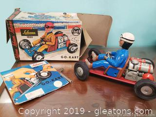 Vtg. Metal Tin Schuco #1055 Go Cart