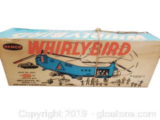 "Vtg. ""Remco"" Whirlybird Motorized Rescue Helicopter"